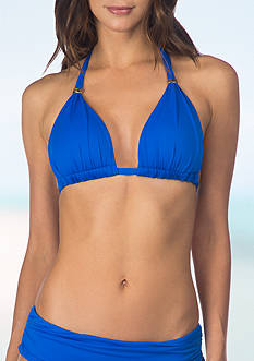 Lauren Ralph Lauren Beach Solids Molded Cup Bra Top