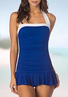 Lauren Ralph Lauren Bel Aire Skirted One Piece Swimsuit