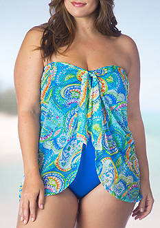 Lauren Ralph Lauren Plus Size Carnivale Flyway One Piece Swimsuit