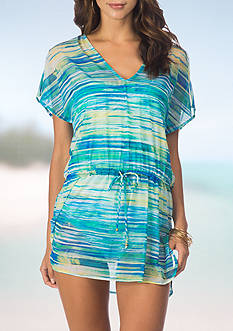 Lauren Ralph Lauren Tie Dye Pool Side Tunic Swim Cover Up