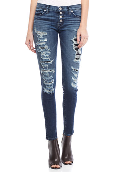 Hudson Jeans Ciara Legion Exposed Button Skinny Jeans