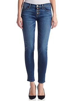 Hudson Jeans Ciara Legion Exposed Button Skinny Jean
