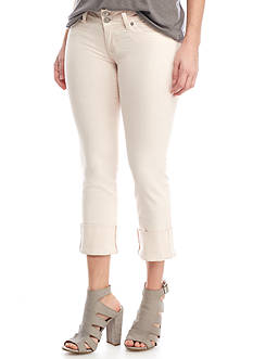Hudson Jeans Ginny Straight Crop with Cuff Capris