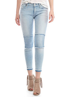 Hudson Jeans Suzzi Ankle Jeans with Knee Patchs