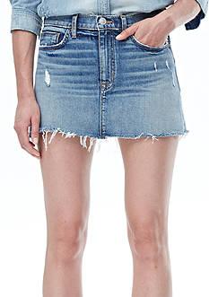 Hudson Jeans Vivid Denim Mini Skirt With Released Hem