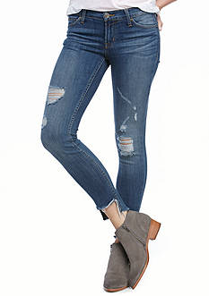Hudson Jeans Destructed Frayed Hem Muse Skinny Jeans