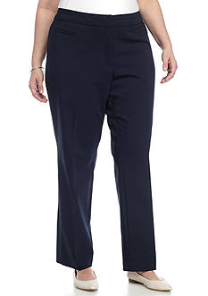 Kim Rogers® Plus Size Cotton Pant