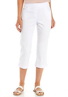 Kim Rogers Plus Size Lace Hem Capri