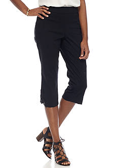 Kim Rogers Super Stretch Crochet Hem Capris