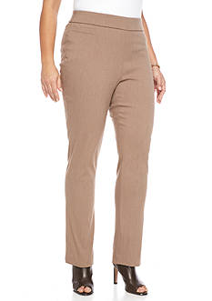 Kim Rogers® Plus Size Solid Dress Pant