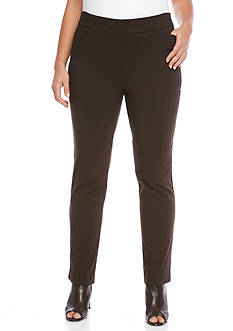 Kim Rogers Plus Size Super Stretch Tummy Control Pull On Pant