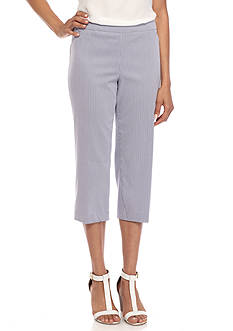 Kim Rogers Slimming Solution Striped Cropped Pant