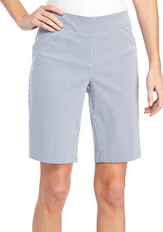 Kim Rogers® Petite Striped Bermuda Shorts