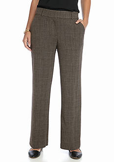 Kim Rogers Shannon Fashion Brown Plaid Pants