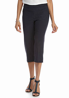 Kim Rogers Super Stretch Pock-A-Dot Capri Pants