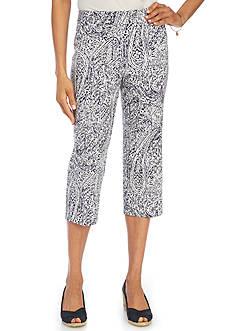 Kim Rogers Printed Capri Pants