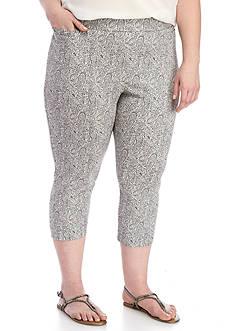 Kim Rogers Plus Size Capri Paisley Pant
