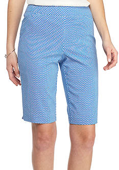 Kim Rogers Super Stretch Geometric Print Bermuda Shorts