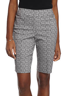 Kim Rogers Super Stretch Printed Bermuda Shorts