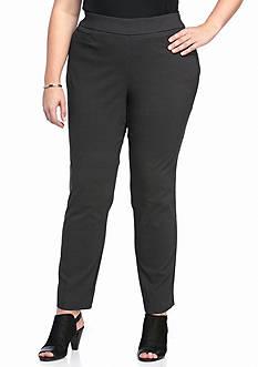 Kim Rogers Plus Size Short Straight Leg Pants