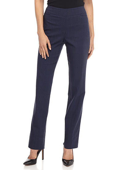 Kim Rogers® Patterned Stretchy Pull-On Pants