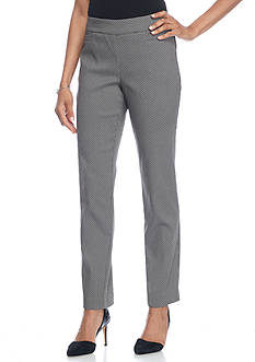 Kim Rogers Super Stretch Dot Pants with Front Pockets