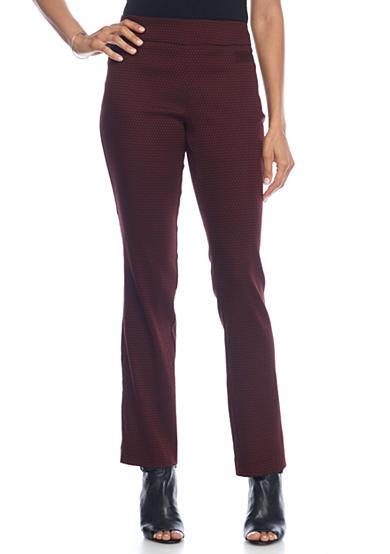 Kim Rogers® Super Stretch Pull On Check Pant with Front Pockets