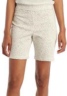 Kim Rogers Cotton Animal Print Shorts