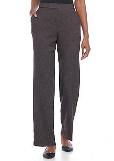 Kim Rogers Petite Size Pull On Tweed Pants