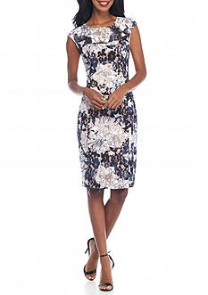 French Connection Botanical Lace Sheath Dress