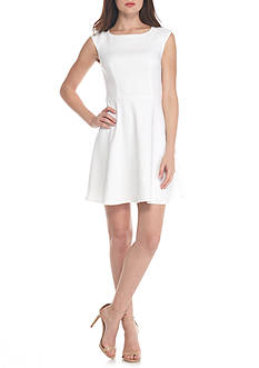 French Connection Whisper Light Fit-and-Flare Dress