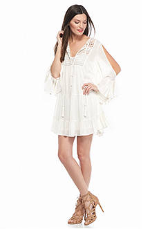 French Connection Castaway Lace Tunic Dress