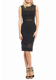French Connection Lula Mesh Bodycon Dress