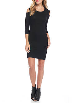 French Connection Cold Shoulder Sweater Dress