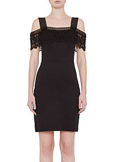 French Connection Petra Lace Cold Shoulder Dress