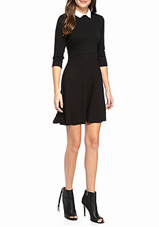 French Connection Fresh Jersey Collared Dress