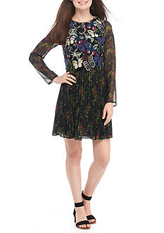 French Connection Cassatt Mix Floral Dress