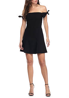 French Connection Whisper Light Off-The-Shoulder Ties Dress