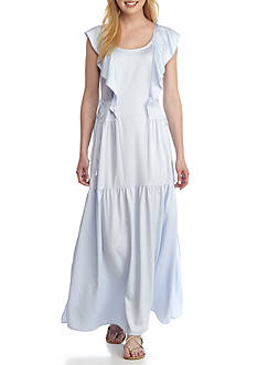 French Connection Nia Drape Maxi Dress