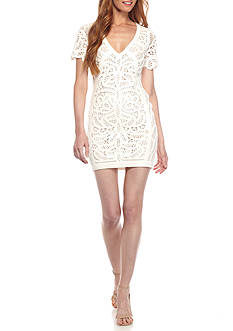 French Connection Mesi Macrame Jersey Dress