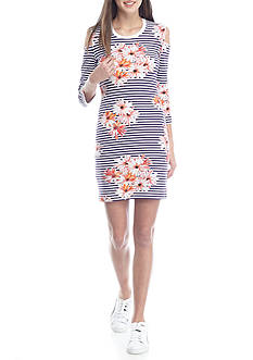 French Connection Samba Daisy Cold Shoulder Dress