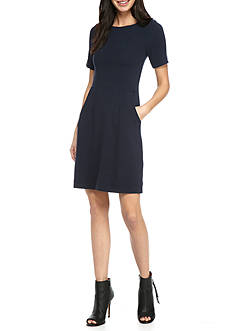 French Connection Sudan Marl Cap Sleeve Dress
