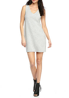 French Connection Sudan Marl Sleeveless V Neck Dress
