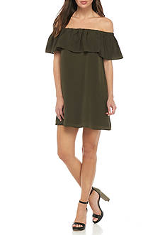 French Connection Polly Plains Off The Shoulder Dress