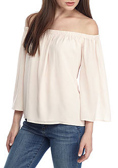 French Connection Off-The-Shoulder Polly with Bell Sleeves