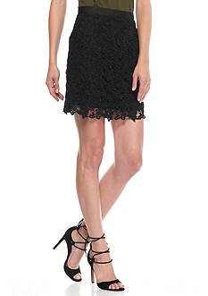 French Connection Mimi Floral Lace Skirt
