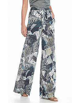 French Connection Lala Palm Wide Leg Pants