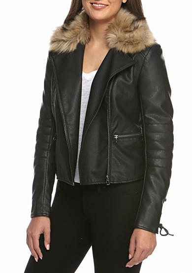 French Connection Blackbird Faux Leather Jacket