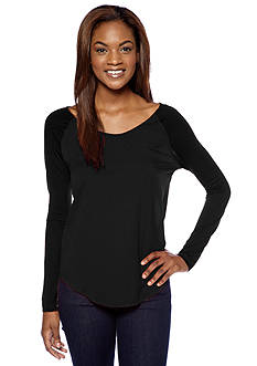 French Connection Polly Plains Long Sleeve Tee