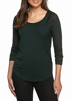 French Connection Plains Long Sleeve Top